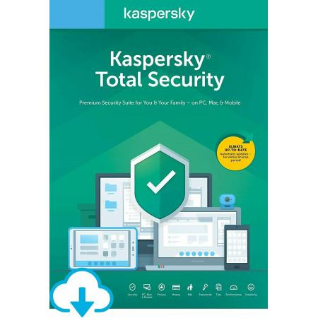 Kaspersky Total Security 4 user For 1 year
