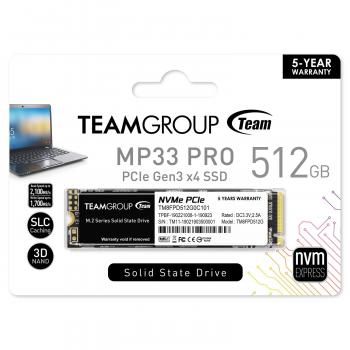 MP33 PRO 512GB M.2 PCIe 2280 NVMe 1.3 Internal Solid State Drive
