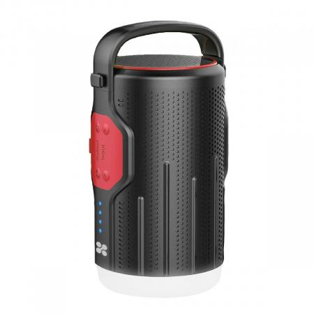 Promate CampMate-2 Portable LED Camp Light with Wireless Speaker & Integrated Power Bank