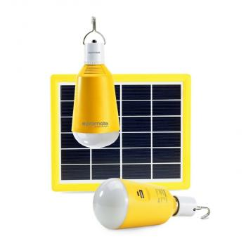 PROMATE SolarLamp-1 Super Bright LED Camping Lamp with Fast Charging Solar Panel and Built-in Power Bank