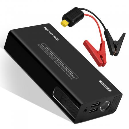 Promate Patrol-2 Emergency Jump-Starter with Smart Clamps and Reverse Polarity Protection