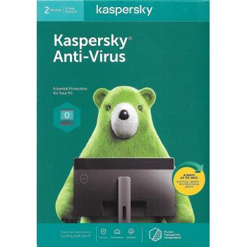 KASPERSKY ANTI VIRUS 2 user For 1 year