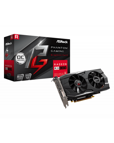 بطاقة رسوميات ASRock Phantom Gaming D Radeon RX580 8GB OC