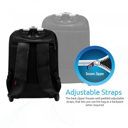 """PROMATE bizPak-TR High Volume Heavy Duty Trolley Bag for Laptops up to 15.6"""" with Multiple Storage"""