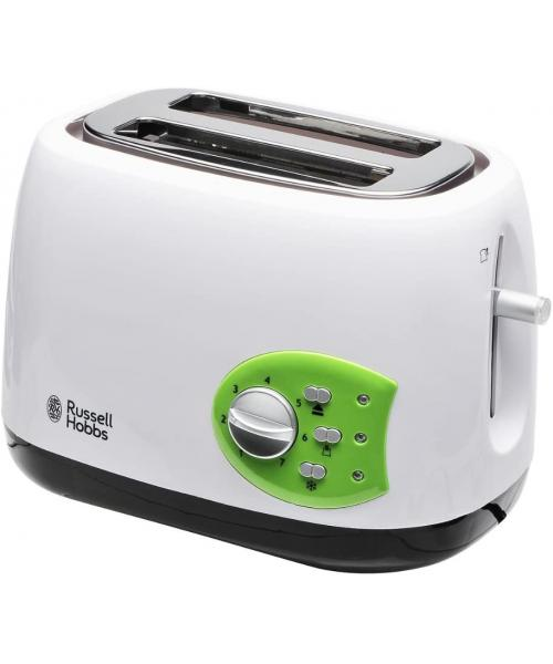 Russell Hobbs 19640-56 Kitchen Collection Toaster, 850W, White / Green
