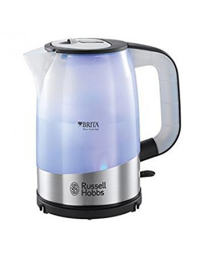 Russell Hobbs Brita Filter Kettle 18554, 1 L, 3000 W - Silver