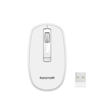PROMATE Clix-3 Ergonomic Wireless Optical Mouse with Precision Scrolling