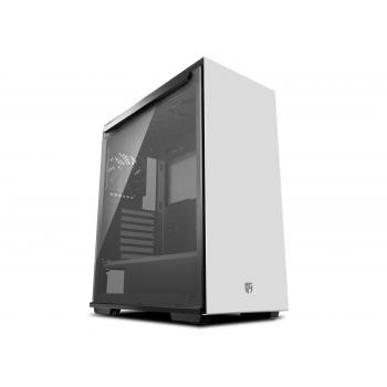 DEEPCOOL Gamer Storm MACUBE 310 White ATX Mid Tower Case Full-Size Magnetic Tempered Glass Built-in Fan Hub and Graphics Card Holder