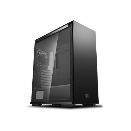 DEEPCOOL Gamer Storm MACUBE 310 Black ATX Mid Tower Case Full-Size Magnetic Tempered Glass Built-in Fan Hub and Graphics Card Holder
