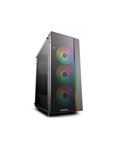 DEEPCOOL MATREXX 55 ADD-RGB 3F ATX Mid-Tower Case ADD-RGB Fans Full-size Tempered Glass Motherboard