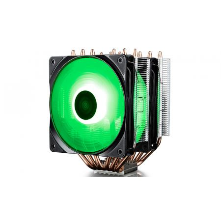 DEEPCOOL Neptwin RGB CPU Cooler 6 Heatpipes Twin-Tower Heatsinks Dual 120mm PWM RGB Fans Motherboard Control and Wired Controller Supported مبرد هواء