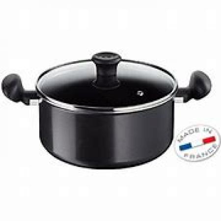 TEFAL FIRST COOK STEWPOT+LID BLACK B3044602
