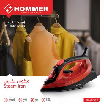 Hommer 1600 Watt Steam Iron with Self Cleaning Function (011.003.062)
