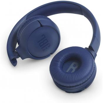 JBL TUNE 500BT in Blue– Over Ear Bluetooth Wireless Headphones with Pure Bass Sound – Headset with Built-In Remote / Microphone