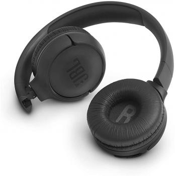 JBL TUNE 500BT in Black – Over Ear Bluetooth Wireless Headphones with Pure Bass Sound – Headset with Built-In Remote / Microphone