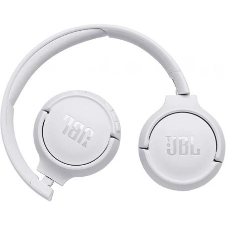JBL TUNE 500BT in WITHE– Over Ear Bluetooth Wireless Headphones with Pure Bass Sound – Headset with Built-In Remote / Microphone