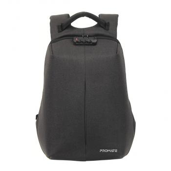 """Promate Anti-Theft Backpack for 16"""" Laptop with Integrated USB Charging Port (Defender-16)"""