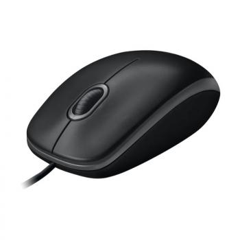 Logitech B100 Corded Mouse – Wired USB Mouse for Computers and laptops, for Right or Left Hand Use