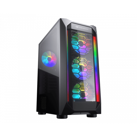 Cougar MX410-G RGB Powerful Airflow and Compact Mid-Tower Case with Tempered Glass