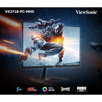 """VX2718-PC MHD 27"""" 165Hz 1500R Curved Gaming Monitor"""