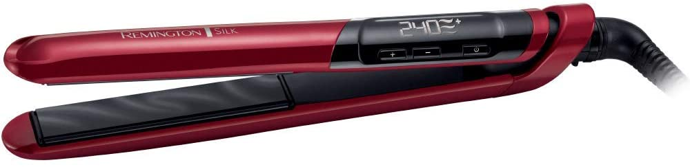 Remington S9600 Silk Straightener with Advanced Silk Ceramic Coating - Red