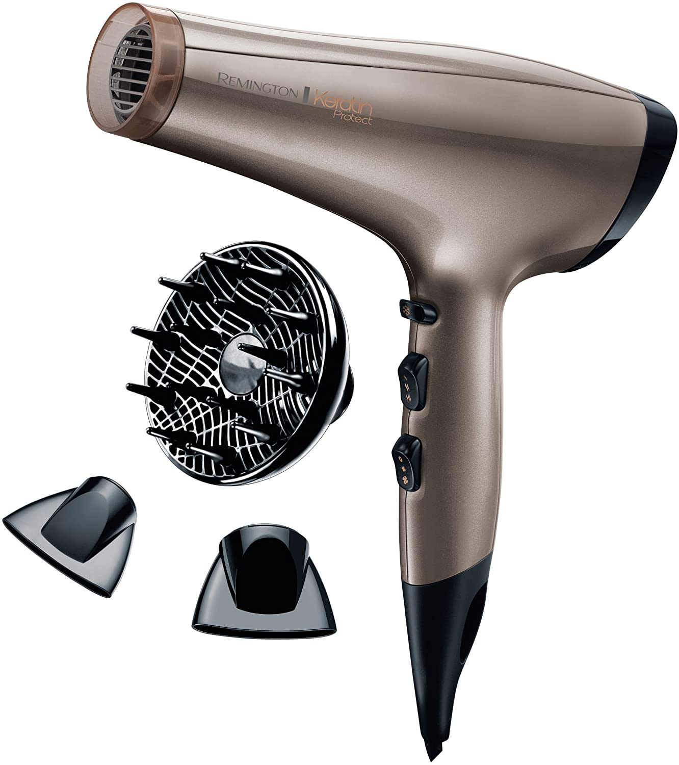 Remington Hair Dryer with 2200 W Power From Keratin Protect - Channel AC 8002