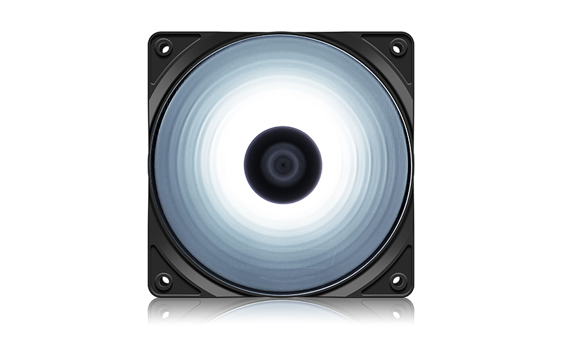 DEEPCOOL RF120W Single Color White Case Fan, 4 Ultra-Bright LED Lights, 9-Blade