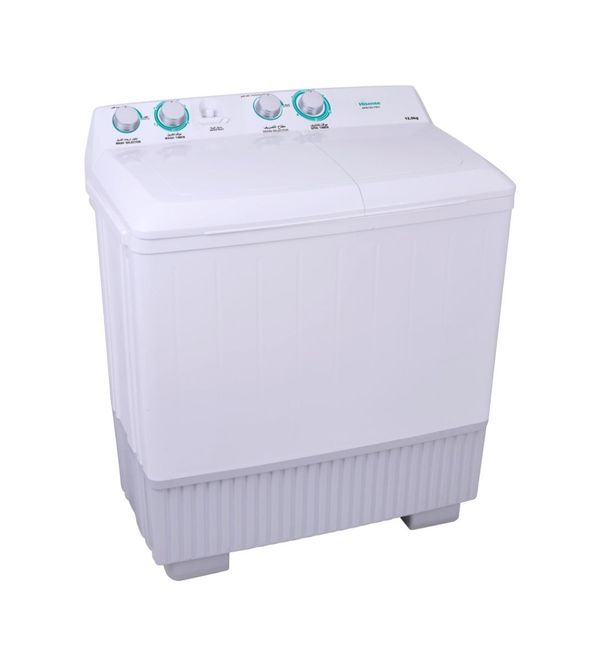 Hisense Twin Tub Washing Machine, 12 KG, XPB120-7001 غسالة عاديه