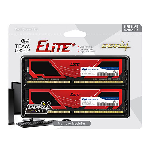 Team Group Elite Plus 8GB Kit (2 X 8GB) DDR4-2666MHz